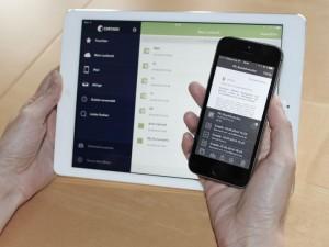 Schon heute möglich und mit iOS 8 Extensions-Support noch komfortabler: Cortado Corporate Server ermöglicht eine einfache Bearbeitung von Dateien und das sichere Ablegen im Filesystem des Unternehmens