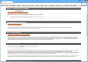 Das Web-Interface ermöglicht nach der Inbetriebnahme der Appliance den Download der Konsole für Support-Techniker