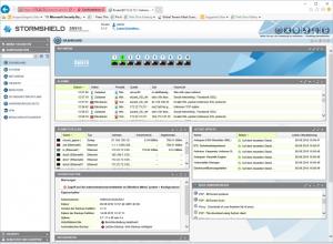 Das Dashboard bietet den zuständigen Mitarbeitern jederzeit einen umfassenden Überblick über den Status der Sicherheitslösung und des geschützten Netzwerks