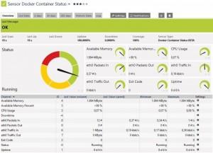 PRTG zeigt den Docker Container-Status übersichtlich an