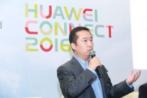 Liu Shaowei, President of Huawei Enterprise Networking Product Line, auf der Huawei Connect 2016
