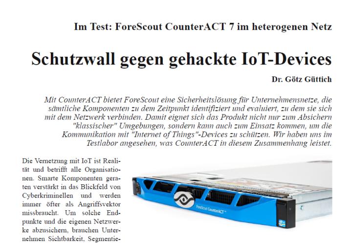 Im Test: ForeScout CounterACT 7 als Schutzwall gegen IoT-Devices