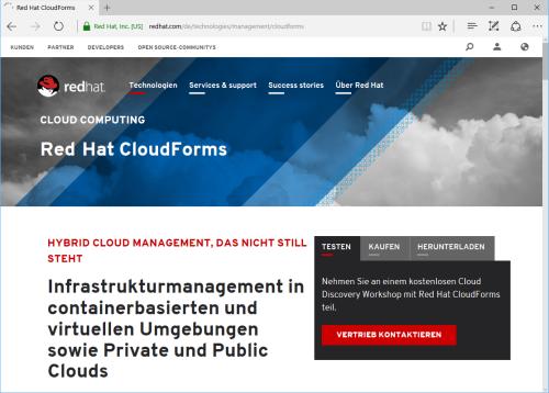 Red Hat CloudForms 4.2 bietet optimiertes Hybrid Cloud Management