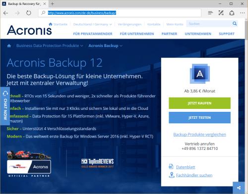 Acronis Backup 12 unterstützt Microsoft Office 365 für einfache und schnelle Datensicherung