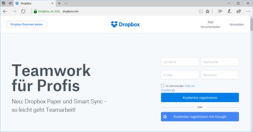 Aufgefrischt: Dropbox gibt seiner Nutzeroberfläche ein neues Design