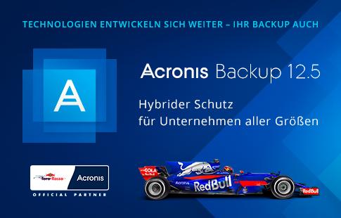 Acronis Backup 12.5 bietet umfassende Data Protection und löst traditionelle Backup-Lösungen ab