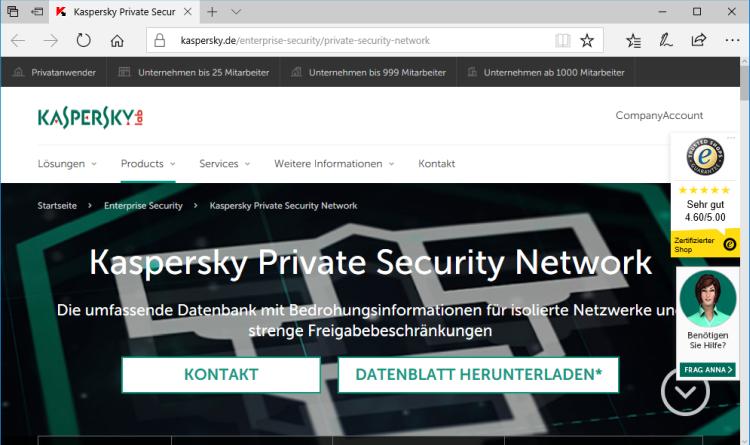 Kaspersky Private Security Network: Neue Version ermöglicht umfangreiche Threat Intelligence innerhalb des eigenen Netzwerks