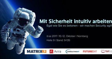 Schmerzen vom Spagat zwischen IT-Sicherheit und Produktivität? Besuchen Sie Matrix42 auf der it-sa 2017 in Halle 9, Stand 9-135 und wir reden drüber