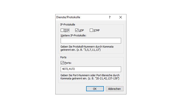 """Firewall-Konfiguration für """"Drop in"""" auf Amazon Echo"""