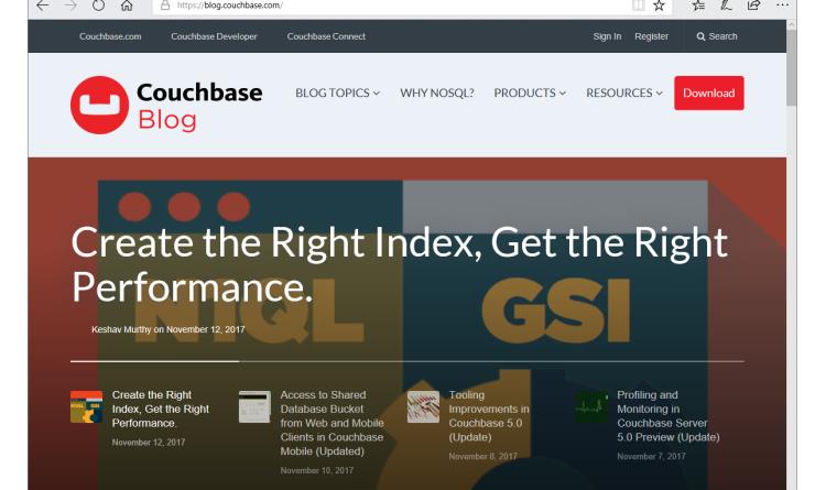 Couchbase veröffentlicht neue Version von Couchbase Server 5.0 und Couchbase Mobile