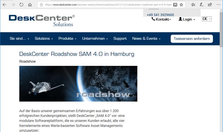 """Von der Tool- zur Werte-orientierten IT: DeskCenter """"SAM 4.0"""" kommt auf den Markt"""