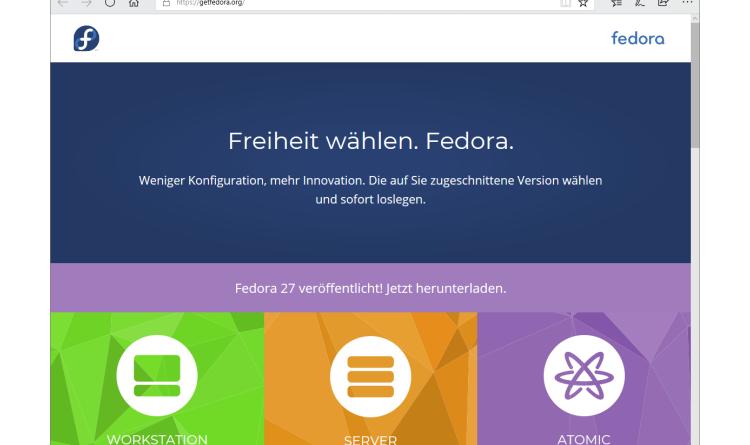 Fedora 27 ist ab sofort verfügbar