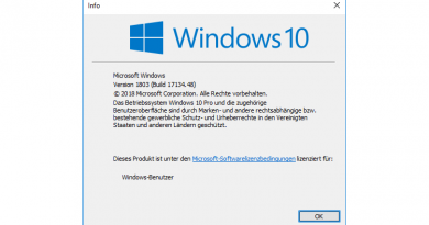 Windows 10 1803 zeigt keinen Login-Prompt an