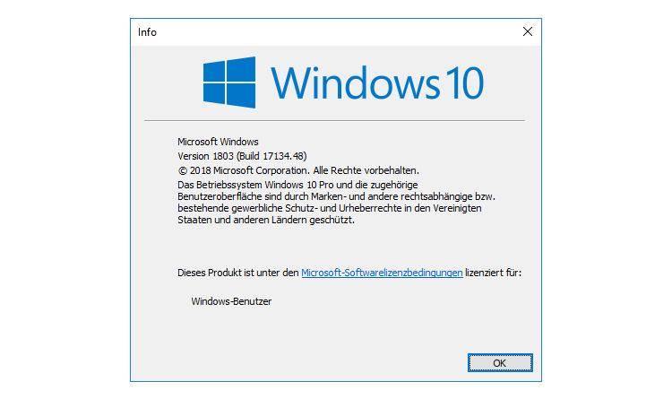 Windows 10 1803 zeigt keinen Login-Prompt an