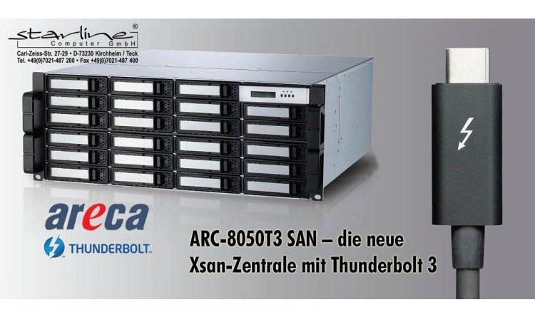 Mit einem Herz für 4K-Youtuber: Neue Xsan-Zentrale ARC-8050T3 SAN von Areca