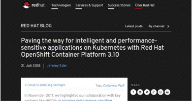 Red Hat OpenShift Container Platform 3.10 ist verfügbar