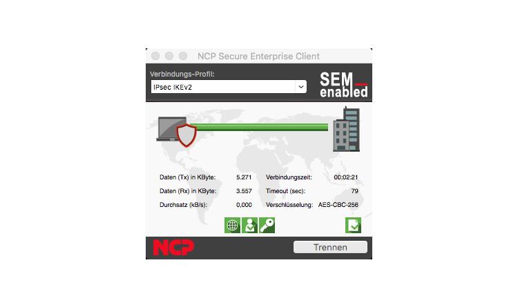 NCP Secure MacOS-Clients mit Authentisierung via Fingerabdruck
