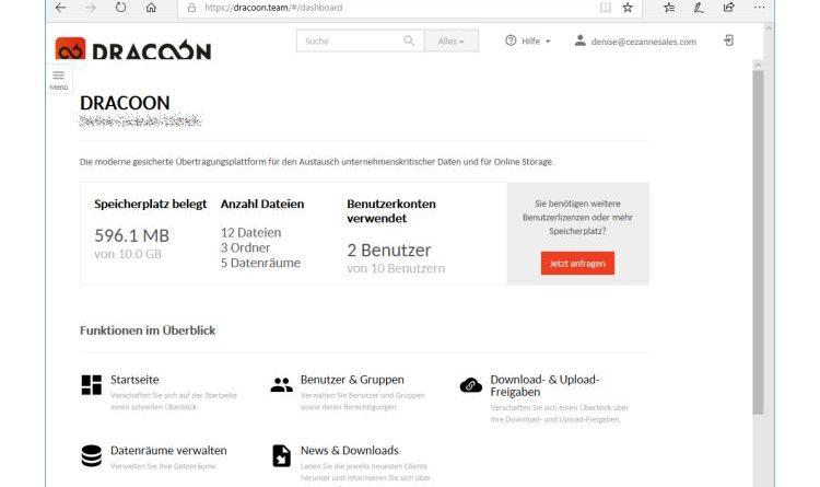 Im Test: Die Enterprise Cloud von DRACOON