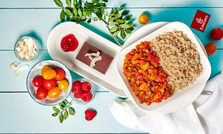 Veganes Essen auf Emirates-Flügen