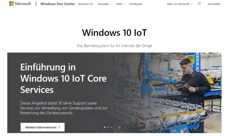 Microsoft stellt Windows Server IoT 2019 vor