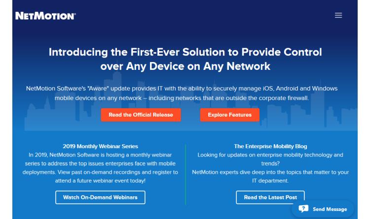 """NetMotion Software kündigt """"Aware""""-Update an – die erste Lösung, die Überblick und Kontrolle über jedes Gerät in jedem Netzwerk bietet"""