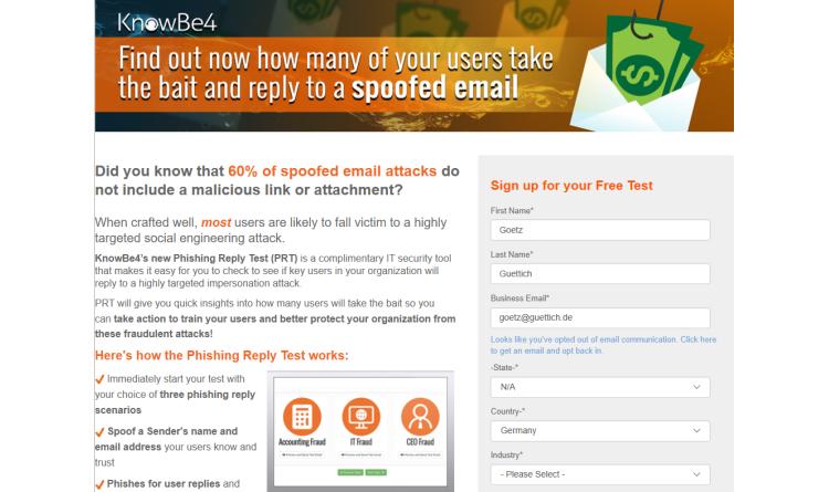 KnowBe4 vertieft sein Verständnis von Phishing mit Hilfe des neuen Phishing Reply Tests