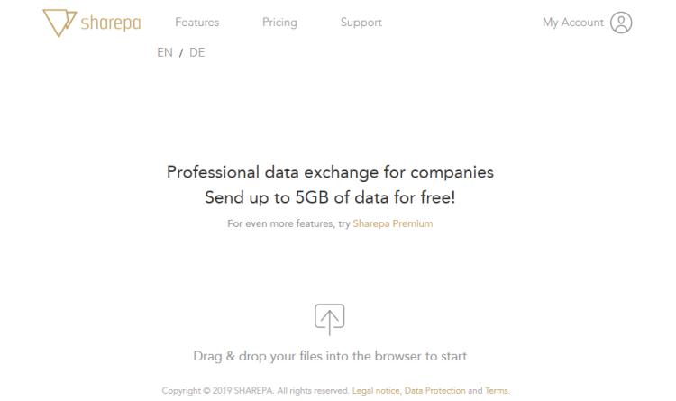 Neuer File-Sharing-Dienst: Mit Sharepa bis zu fünf Gigabyte kostenfrei ohne Registrierung versenden
