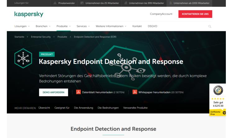 Neue Versionen von Kaspersky Endpoint Detection and Response und Kaspersky Anti Targeted Attack Platform ab sofort verfügbar