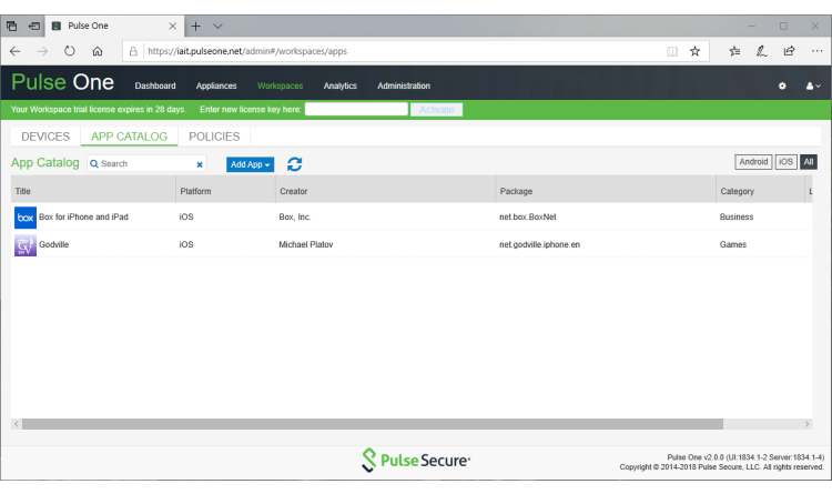 Im Test: Pulse Workspace – einfaches Mobile Device Management