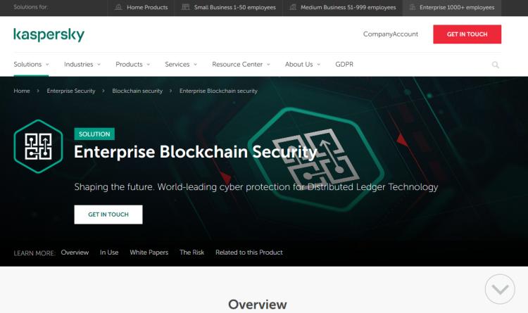 Neue Kaspersky-Lösung schützt Blockchain-basierte Anwendungen in Unternehmen