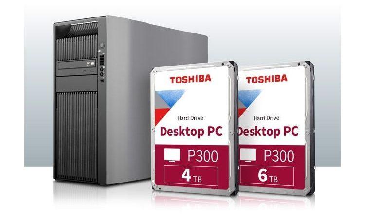 Toshiba erweitert seine P300-Festplatten-Serie für Desktop-PCs um 4TB- und 6TB-Modelle