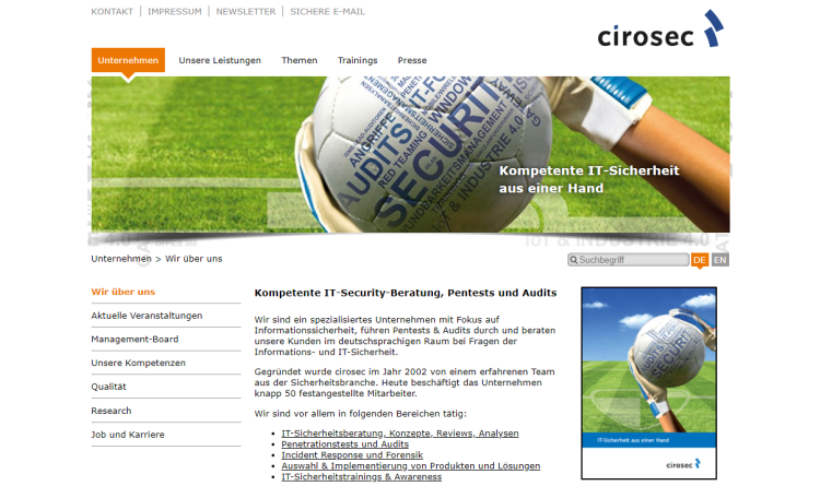 cirosec TrendTage im März: Sicherheit für Applikationen, Endgeräte, Container und in der Cloud
