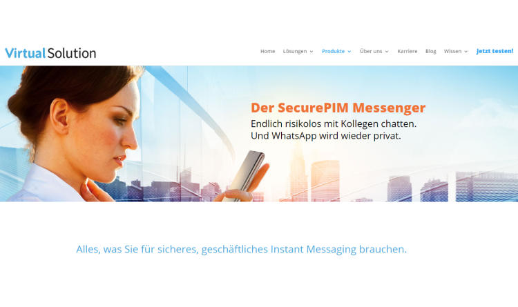 Virtual Solution fügt dem SecurePIM Messenger neue Funktionen hinzu
