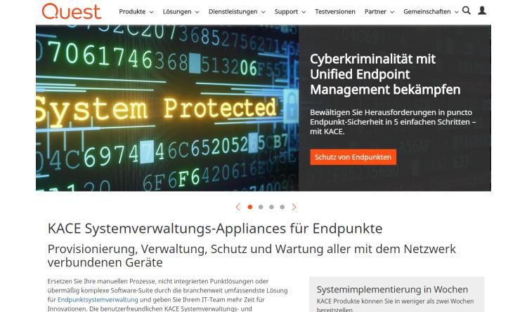 Neuer Quest KACE Cloud MDM vereinfacht Endgerätemanagement und erhöht Sicherheit