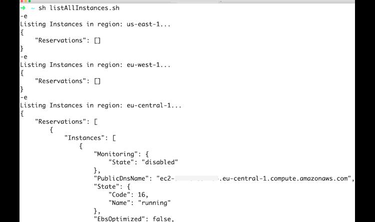 AWS-Regionentabelle per Skript abrufen