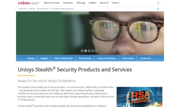 Unisys stellt Stealth 5.0-Software vor