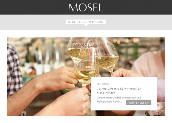 Innovative Verkostungs-Möglichkeiten durch Online-Präsentationen von Moselweinen in Corona-Zeiten - Screenshot: Sysbus