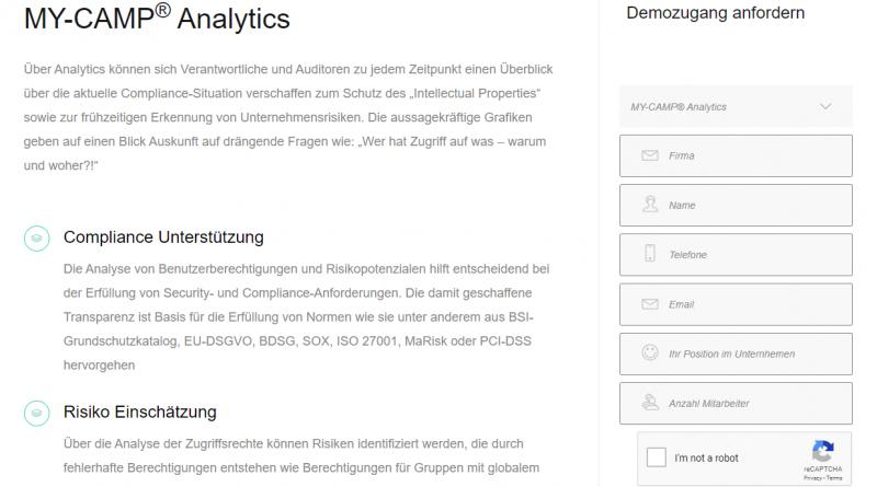 """Neues Berechtigungswerkzeug """"Analytics"""" vervollständigt die Produktstrategie von C-IAM"""