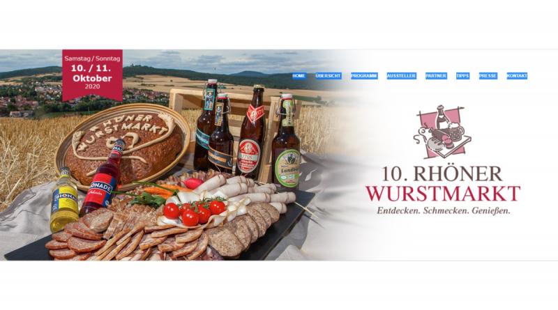 Rhöner Wurstmarkt – Statt Schlemmermarkt in Ostheim jetzt virtuell