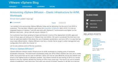 GPU-Ressourcen für KI-/ML-Anwendungen nutzen mit VMware vSphere 7
