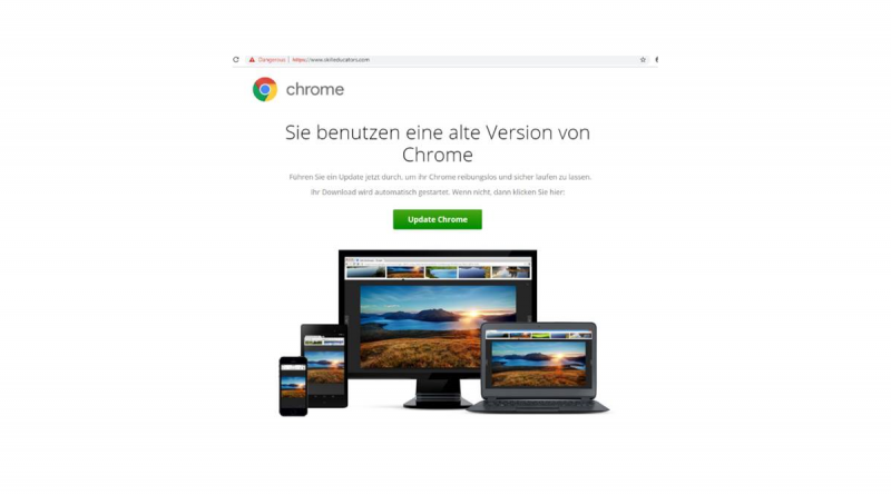 Als Browser-Update getarnte Malware