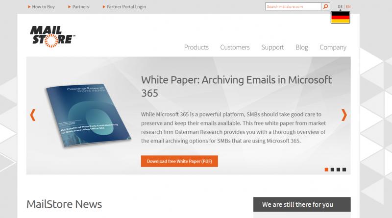 MailStore mit moderner Authentifizierung und besserem Support für Cloud-Services