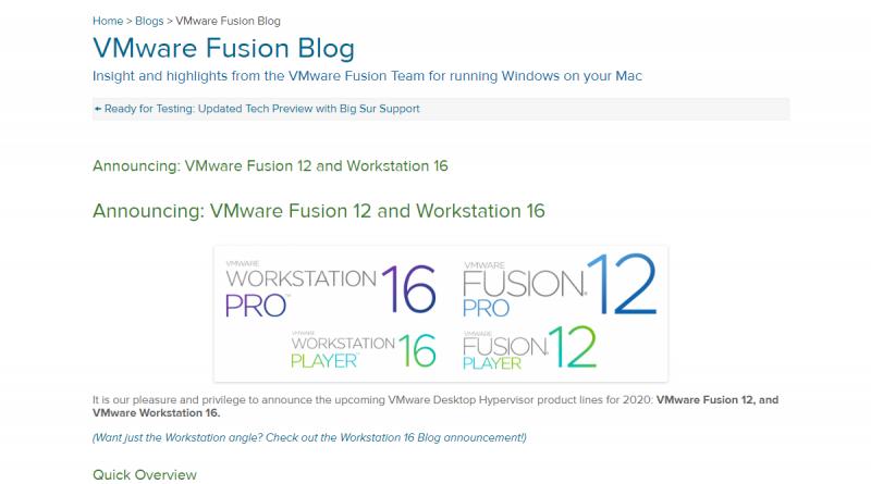 Kubernetes in VMware Workstation 16 und Fusion 12 integriert