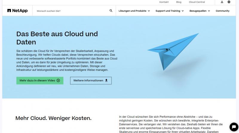 Enterprise-Datenservices und Optimierungen für die Cloud von NetApp