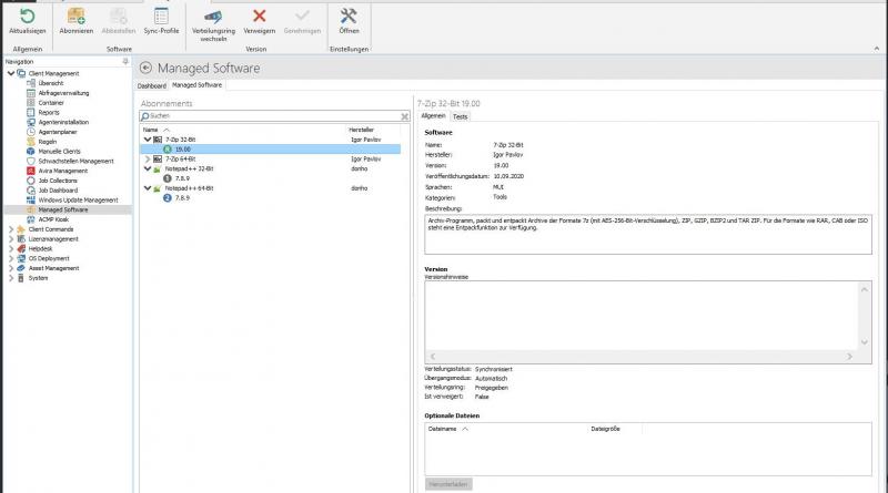 Client-Management-Funktionen von ACMP erweitert