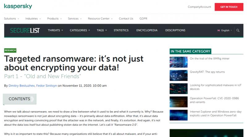 Moderne Ransomware: Veröffentlichung statt Verschlüsselung