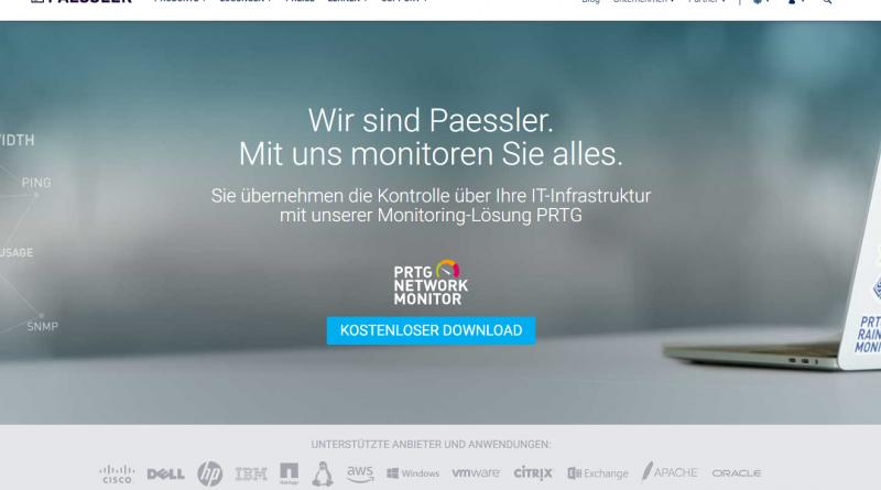 Paessler präsentiert Lösung zum Überwachen der Industrial-IT