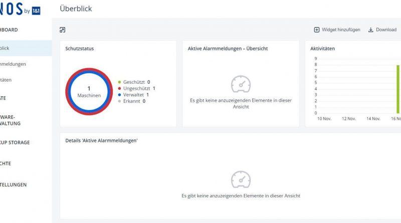 Zentrale Datensicherung in der Cloud  mit MyBackup von IONOS