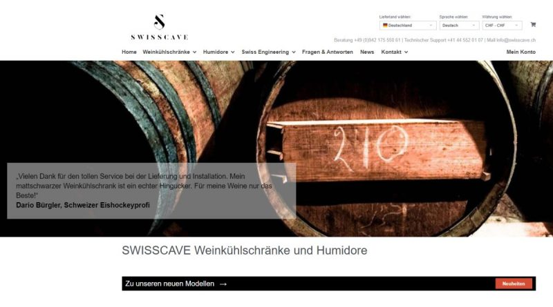 Swisscave - Screenshot sysbus.eu