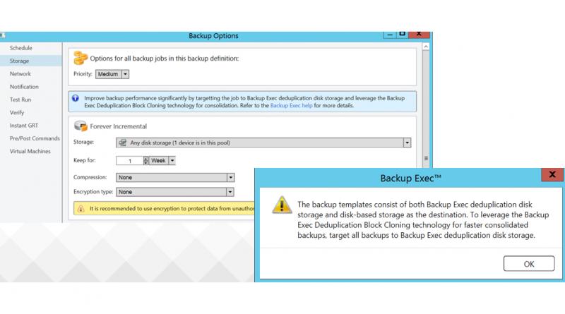 Bearbeitung wiederhergestellter Datenträger nach einem Backup